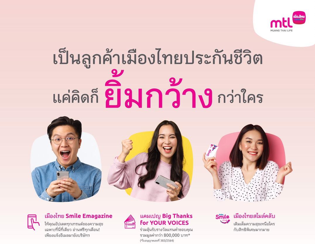 เมืองไทยประกันชีวิต มอบความสุขด้วยสิทธิพิเศษและบริการเพิ่มความสุขที่เหนือระดับ ให้ลูกค้าได้รับความคุ้มค่ามากกว่าแค่ความคุ้มครอง